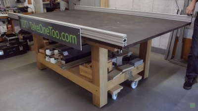 Router sled table assembly